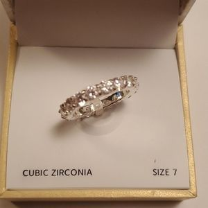 Charter Club CZ band ring, size 7